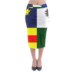 Four Provinces Flag Of Ireland Midi Pencil Skirt