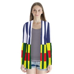 Four Provinces Flag Of Ireland Drape Collar Cardigan