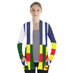 Four Provinces Flag Of Ireland Women s Open Front Pockets Cardigan(p194)