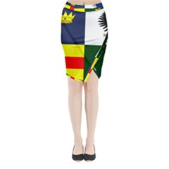 Four Provinces Flag Of Ireland Midi Wrap Pencil Skirt