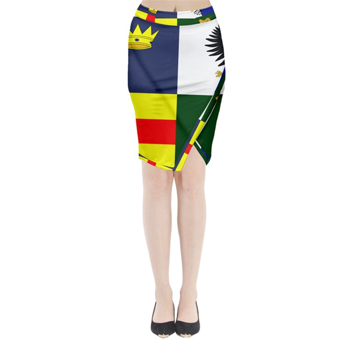 Four Provinces Flag Of Ireland Midi Wrap Pencil Skirt