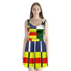Four Provinces Flag Of Ireland Split Back Mini Dress