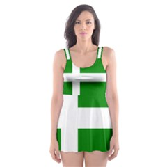 Flag Of Puerto Rican Independence Party Skater Dress Swimsuit