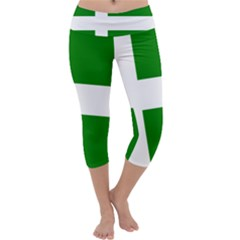 Flag Of Puerto Rican Independence Party Capri Yoga Leggings