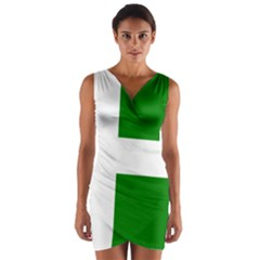 Flag Of Puerto Rican Independence Party Wrap Front Bodycon Dress