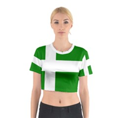 Flag Of Puerto Rican Independence Party Cotton Crop Top