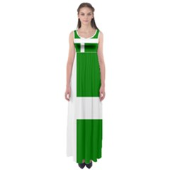 Flag Of Puerto Rican Independence Party Empire Waist Maxi Dress