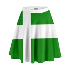 Flag Of Puerto Rican Independence Party High Waist Skirt