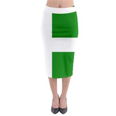 Flag Of Puerto Rican Independence Party Midi Pencil Skirt