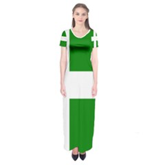 Flag Of Puerto Rican Independence Party Short Sleeve Maxi Dress