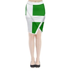 Flag Of Puerto Rican Independence Party Midi Wrap Pencil Skirt