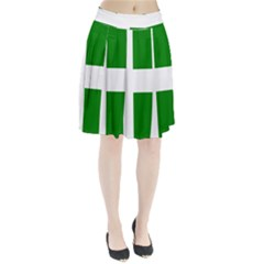 Flag Of Puerto Rican Independence Party Pleated Skirt