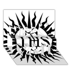 Society Of Jesus Logo (jesuits) Miss You 3D Greeting Card (7x5)