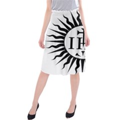 Society Of Jesus Logo (jesuits) Midi Beach Skirt