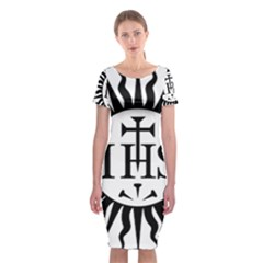 Society Of Jesus Logo (jesuits) Classic Short Sleeve Midi Dress