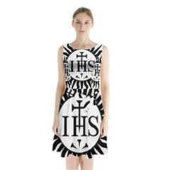 Society Of Jesus Logo (jesuits) Sleeveless Waist Tie Dress