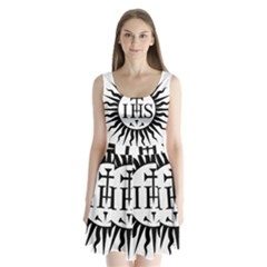 Society Of Jesus Logo (jesuits) Split Back Mini Dress