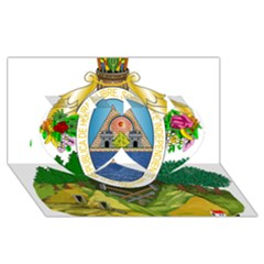 Coat Of Arms Of Honduras Twin Hearts 3d Greeting Card (8x4)