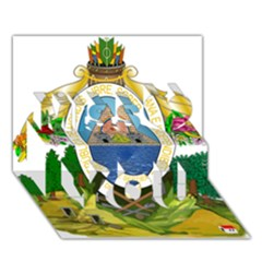 Coat Of Arms Of Honduras Miss You 3d Greeting Card (7x5)