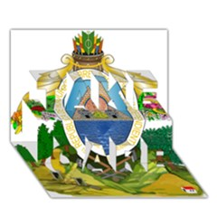 Coat Of Arms Of Honduras TAKE CARE 3D Greeting Card (7x5)
