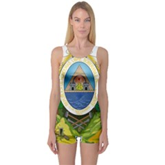 Coat Of Arms Of Honduras One Piece Boyleg Swimsuit