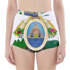 Coat Of Arms Of Honduras High Waisted Bikini Bottoms