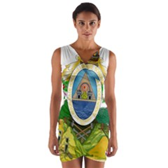 Coat Of Arms Of Honduras Wrap Front Bodycon Dress
