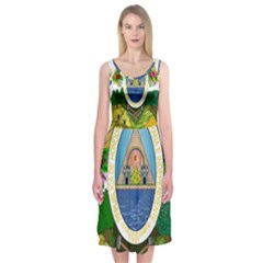 Coat Of Arms Of Honduras Midi Sleeveless Dress