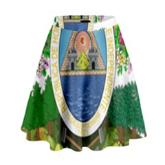 Coat Of Arms Of Honduras High Waist Skirt