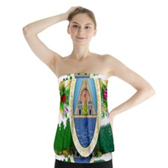 Coat Of Arms Of Honduras Strapless Top