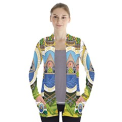 Coat Of Arms Of Honduras Women s Open Front Pockets Cardigan(p194)