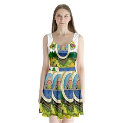 Coat Of Arms Of Honduras Split Back Mini Dress