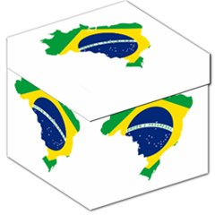Flag Map Of Brazil  Storage Stool 12