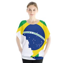 Flag Map Of Brazil  Blouse
