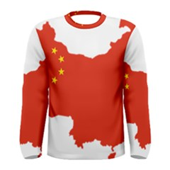 Flag Map Of China Men s Long Sleeve Tee