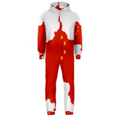 Flag Map Of China Hooded Jumpsuit (Men)