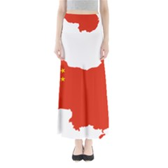 Flag Map Of China Maxi Skirts