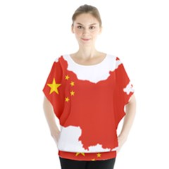 Flag Map Of China Blouse