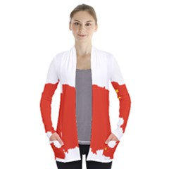 Flag Map Of China Women s Open Front Pockets Cardigan(P194)