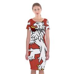 Bohemia Coat Of Arms  Classic Short Sleeve Midi Dress