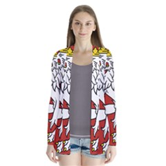 Bohemia Coat Of Arms  Drape Collar Cardigan