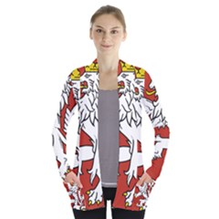 Bohemia Coat Of Arms  Women s Open Front Pockets Cardigan(P194)