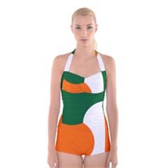 Irish Air Corps Roundel Boyleg Halter Swimsuit