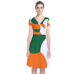 Irish Air Corps Roundel Short Sleeve Front Wrap Dress