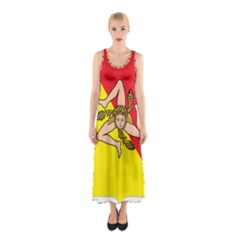 Coat Of Arms Of Sicily Sleeveless Maxi Dress