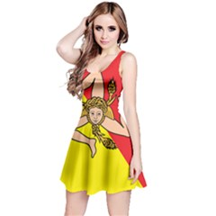 Coat Of Arms Of Sicily Reversible Sleeveless Dress