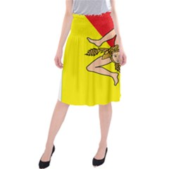 Coat Of Arms Of Sicily Midi Beach Skirt