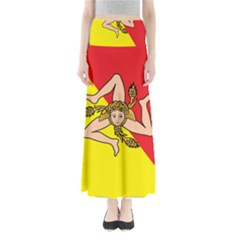 Coat Of Arms Of Sicily Maxi Skirts