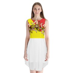 Coat Of Arms Of Sicily Sleeveless Chiffon Dress