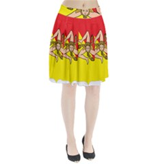 Coat Of Arms Of Sicily Pleated Skirt